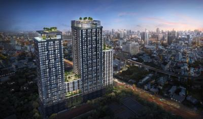 Sale DownCondoRatchathewi,Phayathai : Sell Down Payment Very Cheap Condo XT Phayathai 1-Bed High Floor