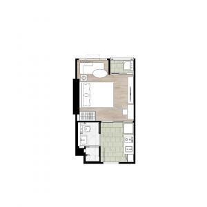 ขายดาวน์คอนโดเกษตรศาสตร์ รัชโยธิน : ขายด่วน 1ห้องนอน 22ตรม.ชั้นบนสุด Top view