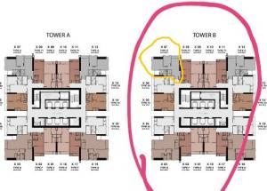ขายคอนโดพระราม 9 เพชรบุรีตัดใหม่ : ขายดาวน์ 2 ห้องนอน 55ตรม One9five ชั้น34 ตึก B Sell 2 bedrooms 55sqm fl34