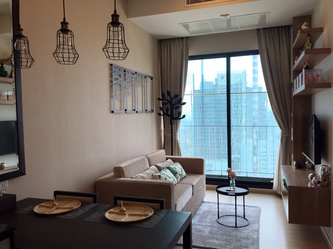FOR RENT!! The Capital Ekamai Thonglor 1bed 1bath 35sqm. fully furnished 18,000.-