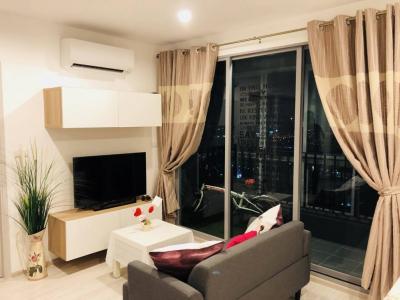 For RentCondoBang Sue, Wong Sawang : ✨For Rent Cozy 2 Bed High floor, Ideo Mobi Bangsue Grand Interchange, Taopoon MRT✨
