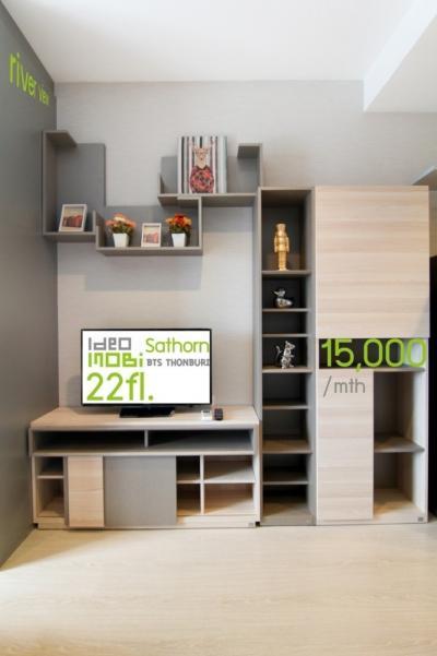 For SaleCondoWongwianyai, Charoennakor : +++ IDEO MOBI SATHORN Studio, Floor 22 +++