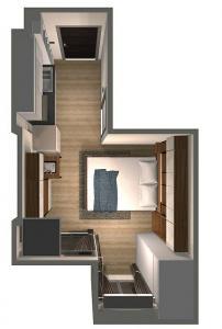 ใ้ห้เช่า ห้องสตูดิโอ The Whizdom รัชดาท่าพระ ออกแบบโดยอินทีเรียทั้งห้องอย่างงาม