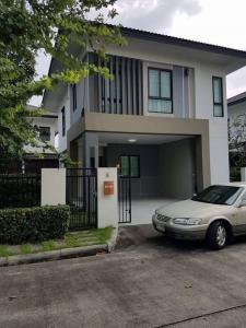 For RentHousePhutthamonthon, Salaya : Beautiful new detached house for rent Fully furnished Carry the bag in The project has a fitness center, swimming pool, near Big C Department Store, Phutthamonthon 3 Rd.