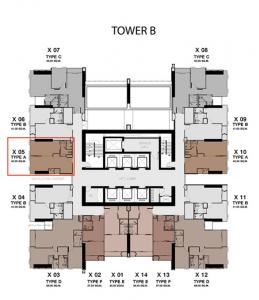 ขายดาวน์ห้อง 40.50 ตร.ม. ทาวเวอร์ B ชั้น 31 วิวสวนและวิวเมืองยูนิต B3105