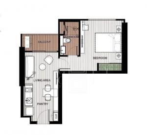 For SaleCondoLadprao, Central Ladprao : For Sale The Saint Residences (30 square meters)