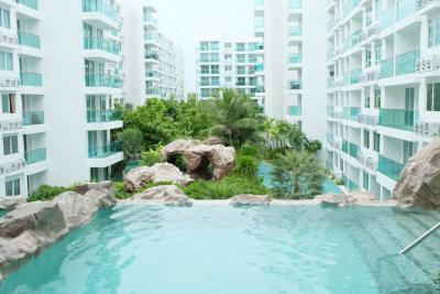 For SaleCondoPattaya, Bangsaen, Chonburi : Amazon Residence Condo for sale, building 4, Pool Access !!!!! 1st floor.