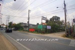 For SaleLandSamrong, Samut Prakan : Land for sale on Nam Daeng Road - Bang Phli, 1-1-18 Rai, on the 3 corner road, good location