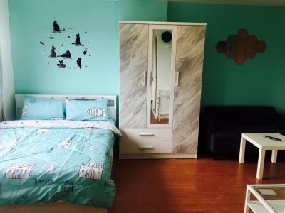 For RentCondoSamrong, Samut Prakan : Condo for rent, Lumpini Mix Thepharak-Srinakarin Fully furnished 5,500 baht per month
