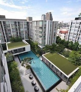 For SaleCondoBangna, Lasalle, Bearing : D Condo for sale, D condo, Sukhumvit 109, near BTS Bearing, corner room, 2 bedrooms, 2 bathrooms, pool view Fully furnished, fully furnished New room, never been in