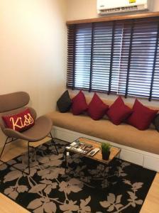For SaleCondoOnnut, Udomsuk : ขายห้องตัวอย่าง ห้องมุม! คอนโด เอ สเปซ ( A-Space ) สุขุมวิท 77  BTS อ่อนนุช 1 ห้องนอน ขนาด 31.04 ตรม. ตึก F ชั้น 4 ใกล้ Big C