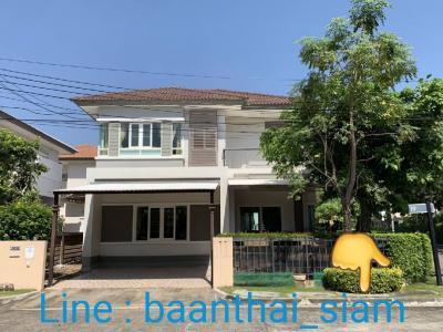 For RentHouseRama 2, Bang Khun Thian : 2 storey detached house for rent with furniture Saran Siri University, near Central Department Store, Tha Kham-Rama 2 Road