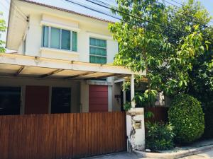 For SaleHousePhutthamonthon, Salaya : House for sale in Bangkok Boulevard Village, Phutthamonthon Sai IV area of 55 Sq. Sold with fully furnished. The house has the addition of a garage. Home theater room The addition of a sitting area with a roof. The addition of a roof to prevent rain. Pric