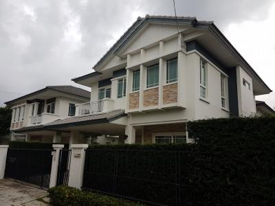 For SaleHouseNawamin, Ramindra : Manthana Raminthra-Wongwaen house for sale, new home very close to Fashion Island, price 8.6 million, free transfer