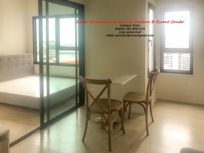 ขายคอนโด เอสเซ็นท์ คอนโด เชียงใหม่ Escent Condo Chiang mai CPN เซ็นทรัลเฟสติวัล ชั้น 16 , 1 ห้องนอน 24 ตรม. 2,550,000 บาท