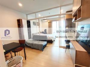For RentCondoSathorn, Narathiwat : For rent Supalai Lite Ratchada-Narathiwas-Sathorn 1 bed 34.5 sqm. Floor 21 city view 13,500 baht/month