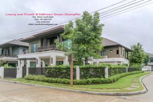 For SaleHouseChiang Mai, Chiang Rai : House for sale in Chiang Mai, Setthasiri, Sansai, Great location, Uniquely Lanna Style 77 sq. Wah, only 10.9 million baht
