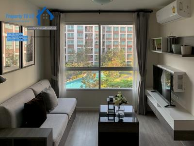 For SaleCondoChiang Mai : วิวสระ D condo Ping ดีคอนโด พิงค์ เชียงใหม่ ขายคอนโด ชั้น 4, 1 ห้องนอน 37 ตรม เพียง ใกล้กับเซนทรัลเฟสติวัล