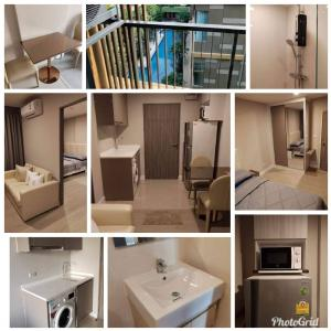 For RentCondoRatchadapisek, Huaikwang, Suttisan : 📣 Condo for rent Metro Luxe Ratchada 29 sq m. Carry a bag 🧳 One piece can move in. Price 14,500 baht / month. Details 1 bedroom, 1 bathroom, 1 reception, 1 balcony. In the room ✅ 45 inch TV ✅ Refrigerator, microwave ✅ Electric stove Hood ✅ Washing machine