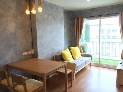 เช่าคอนโดพระราม 9 เพชรบุรีตัดใหม่ : ให้เช่า Lumpini Park Rama 9-Ratchada 1 ห้องนอน 30 ตรม. อาคาร B ชั้นสูง 12,500 บาท/เดือน