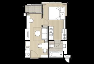 ขายเท่าทุนห้องก่อนโอน IDEO Sukhumvit 93 ชั้นสูง วิวเมือง ทิศเหนือ ไม่ร้อน