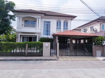 For RentHouseBangna, Bearing, Lasalle : House for Rent 3bed  ,Passorn Village  Near Mega bangna