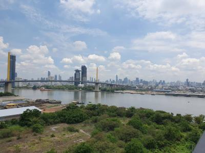 For RentCondoRathburana, Suksawat : For Rent Chapter One Modern Dutch by the Chao Phraya River, size 30 sq. M, 14th floor. Fully furnished, ready to view the river.