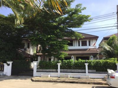 For RentHousePhutthamonthon, Salaya : 2-storey detached house for rent 70 sq. W. Aksara Village, Thawi Watthana-Phutthamonthon Sai 3 Rd.