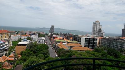 For SaleCondoPattaya, Bangsaen, Chonburi : Pattaya condo for sale, sea view, corner room, decorated in Thai style