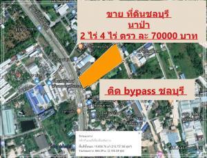For SaleLandPattaya, Bangsaen, Chonburi : Land for sale, Na Pa Subdistrict, Chon Buri, 2 rai 4 rai, 70000 baht per sq. Wah