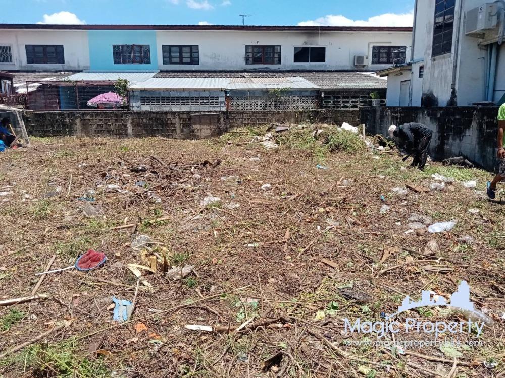 For SaleLandBang Sue, Wong Sawang : Land for sale at Prachachuen - Nonthaburi Soi 8, Intersection 1/4, land size 63 square wah, width 14 x 18 meters, land reclamation, Bang Khen Subdistrict, Mueang Nonthaburi District, Nonthaburi Province