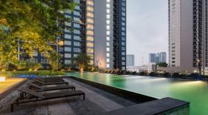 For RentCondoOnnut, Udomsuk : For Rent The Base Sukhumvit 77 1 Bedroom Fl.22 30 sq.m. BTS Onnut, High rise, nice view ready to move in