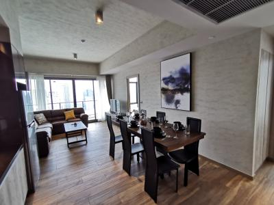 2 Bedrooms on High Floor with nice view at The Lofts Asoke for rent
