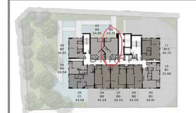ขายดาวน์คอนโดสยาม จุฬา สามย่าน : ขายดาวน์ถูกสุด 200,000บาท + (ที่จ่ายไปแล้ว) CHAPTER CHULA-SAMYAN 1 ห้องนอน/ 1 ห้องน้ำ 34.74 ตร.ม.  (Smart Home Automation)