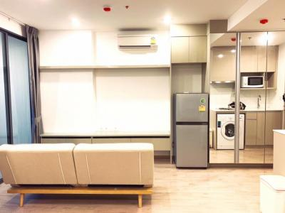 For RentCondoSiam Paragon ,Chulalongkorn,Samyan : Super View Large room with godly view Parents stay with children, beautiful decoration, Ideo Q Chula-Sam Yan, condo for rent, can walk to study, large room with partition, parents can come and stay privately, near Sam Yan subway, near Chula Demonstration