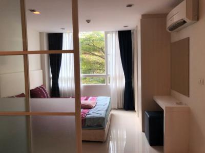 For RentCondoPattanakan, Srinakarin : Condo for rent, ready to move in, 1 bedroom, 37 sq.m., shady garden view, near Seacon