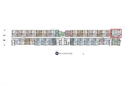 For SaleCondoSamrong, Samut Prakan : Sale down payment Supalai Veranda Sukhumvit 117 65 sqm, 9th floor, garden view