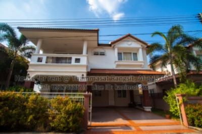 For RentHouseRangsit, Patumtani : Single detached house for rent near Thammasat University AIT NSTDA