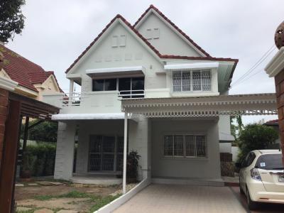 For RentHouseKasetsart, Ratchayothin : Beautiful 2 storey detached house for rent near Central Eastville, Soi Yothinpattana, Kaset-Nawamin 111 road