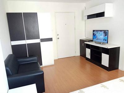 For RentCondoRangsit, Patumtani : Condo for rent, Lumpini Rangsit Klong 1, building zone, page A4, 4th floor, beautiful view, fully furnished, near Future Park Rangsit Don Muang Airport