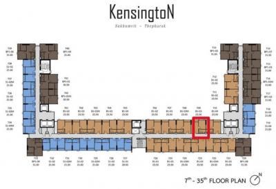 ขายคอนโดใหม่ 1 ห้องนอน Kensington สุขุมวิท เทพารักษ์ ห้องสวย ขนาด 24.13 ตร.ม. ชั้น 10 วิวสระว่ายน้ำ (ห้อง#1009)