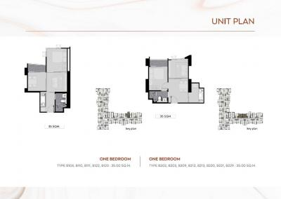 Sale DownCondoLadprao, Central Ladprao : Sell down payment Life Ladprao Valley 1 bed, 11th floor, size 35 sq.m.