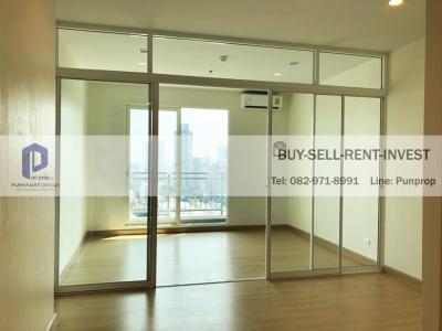 For SaleCondoSathorn, Narathiwat : Selling a new room, never lived! Supalai Lite Ratchada-Narathiwas-Sathorn, 35 sqm., high floor, river view, empty room 3.6 million.
