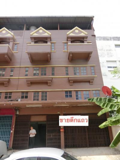 For SaleShophouseBang kae, Phetkasem : 4 storey commercial building for sale, 2 booths beat through Petchkasem 2 near the Mall Bang Khae