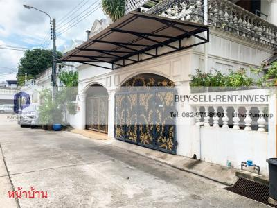 For SaleTownhouseRama3 (Riverside),Satupadit : ขายบ้านทาวน์เฮ้าส์ 4 ชั้น หมู่บ้านศรีกรุง พระราม 3 นางลิ้นจี่ ใกล้ทางด่วน 36 ตรวา. 15 ล.