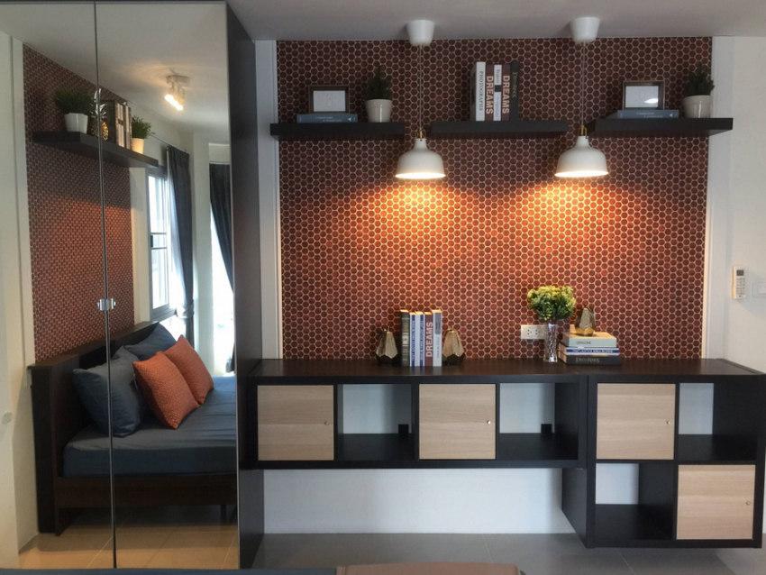 For SaleCondoMin Buri, Romklao : For Sale Condo Asakan City Ramkhamhaeng (23 sq.m/4th floor) @Lotus Sukhaphiban 3, Facing East, Fully furnished