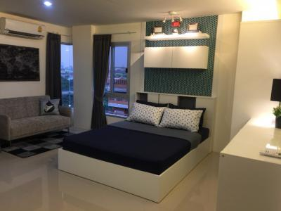 For RentCondoRamkhamhaeng,Min Buri, Romklao : For Rent Condo Asakan City Ramkhamhaeng (23-26 sq.m) @Lotus Sukhaphiban 3, Facing East, Fully furnished