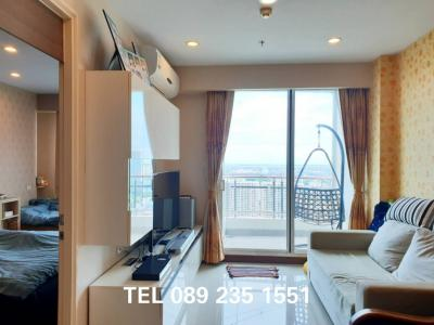 For SaleCondoRama3 (Riverside),Satupadit : FOR SELL !!! 1 bedroom, high floor, fully furnished, Built in for only 5.59 million baht. Supalai Prima Riva, Riverside condo.