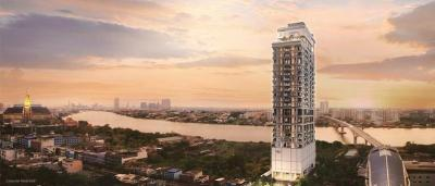 Sale DownCondoBang Sue, Wong Sawang : Selling preemption tickets for the condo modiz collection bangpho Modi Collection Bang Pho next to MRT Bang Pho Chaopraya River curved view