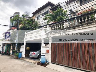 For SaleTownhouseRama3 (Riverside),Satupadit : 4-storey townhouse for sale in Sri Krung Rama 3 Village, Nang Linchi, near the expressway, 40 sq.w. 19 m.